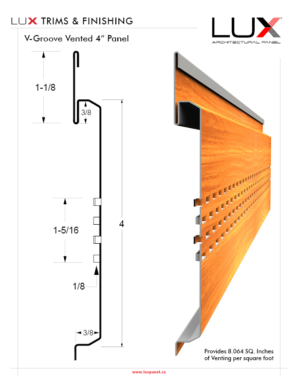 Lux 4 Amp 6 V Groove Panel Lux Architectural Panel